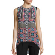 nicole by Nicole Miller® Sleeveless High-Low Floral Print Top