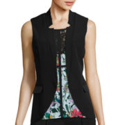 nicole by Nicole Miller® Faux-Leather Trim Vest
