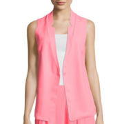BELLE + SKY™ Sleeveless Sheer-Back Vest Jacket