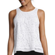 Bisou Bisou® Lace Hi-Low Tank Top