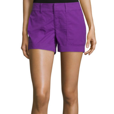 jcpenney.com | a.n.a® Mid-Rise Utility Poplin Shorts