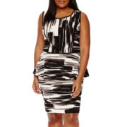 Alyx® Print Knit Peplum Top or Knit Pencil Skirt - Plus