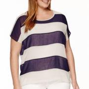 Worthington® Short-Sleeve Colorblock Layered Tee - Plus