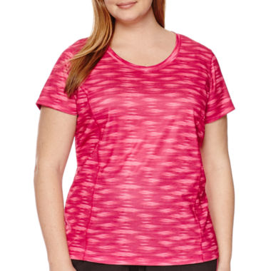 jcpenney.com | Made For Life™ V-Neck Mesh Tee - Plus