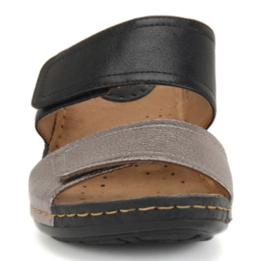 jcpenney.com | softspots® Panama Two-Strap Wedge Sandals