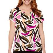 Worthington® Short-Sleeve Blouse - Petite