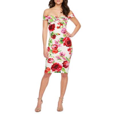 Premier Amour Off The Shoulder Floral Sheath Dress Jcpenney