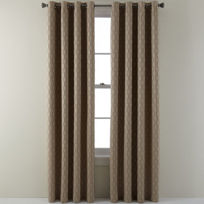 studio luna grommettop lined textured blackout curtain panel