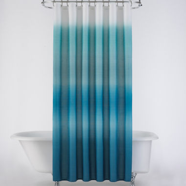 jcpenney.com | JCPenney Home™ Ribbed Ombré Shower Curtain