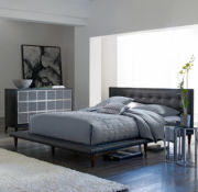 Jackson Leather Upholstered Platform Bed