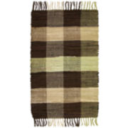 Agra Plaid Washable Cotton Rectangular Rug
