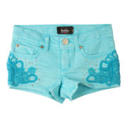 by&by Girl Crochet-Trim Shorts - Girls 7-16