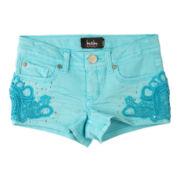 by&by Girl Crochet-Trim Shorts - Girls 7-16