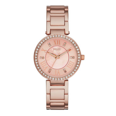 jcpenney.com | Relic® Isabelle Womens Crystal-Accent Rose-Tone Bracelet Watch ZR34308