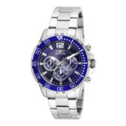 Invicta® Mens Stainless Steel Chronograph Sport Watch