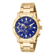 Invicta® Mens Gold-Tone Stainless Steel Chronograph Watch 18162