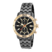 Invicta® Mens Gray Stainless Steel Chronograph Watch