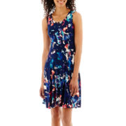 a.n.a® Sleeveless Jersey Fit-and-Flare Dress