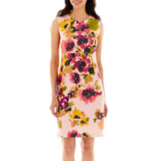 Liz Claiborne® Sleeveless Floral Sheath Dress