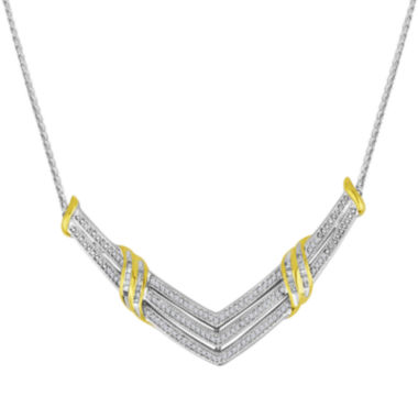 jcpenney.com | 1/2 CT. T.W. Diamond Two-Tone Necklace