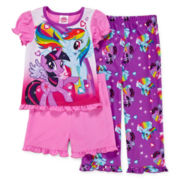 My Little Pony 3-pc. Pajama Set - Girls Toddler 2t-4t