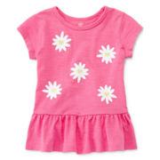 Okie Dokie® Short-Sleeve Peplum Top – Girls newborn-9m
