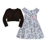 Disorderly Kids® Cardigan or Bonnie Jean® Ruffle Dress – Toddler Girls