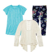Arizona Crochet Cardigan, Tunic or Capri Leggings – Girls 7-16 and Plus