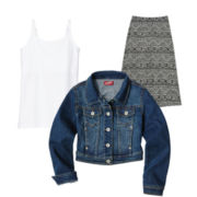 Arizona Denim Jacket, Cami or Maxi Skirt – Girls 7-16 and Plus