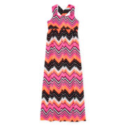 Total Girl® Sleeveless Twist Back Maxi Dress – Girls 7-16