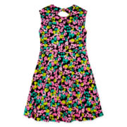 Total Girl® Back-Tie Skater Dress – Girls 7-16 and Plus