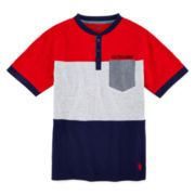 U.S. Polo Assn.® Colorblock Henley Tee – Boys 6-18