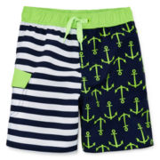 Arizona Striped Anchor Swim Trunks – Boys 2t-5t
