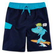 Arizona Surfing Shark Swim Trunks – Boys 2t-5t