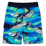Arizona Shark Swim Trunks - Preschool Boys 4-7