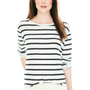 Joe Fresh™ Long-Sleeve Striped Linen Tee