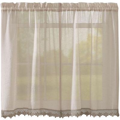 Leanne Rod-Pocket Window Tiers