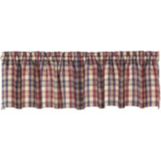 London Plaid Rod-Pocket Tailored Valance