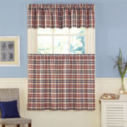 London Plaid Kitchen Curtains