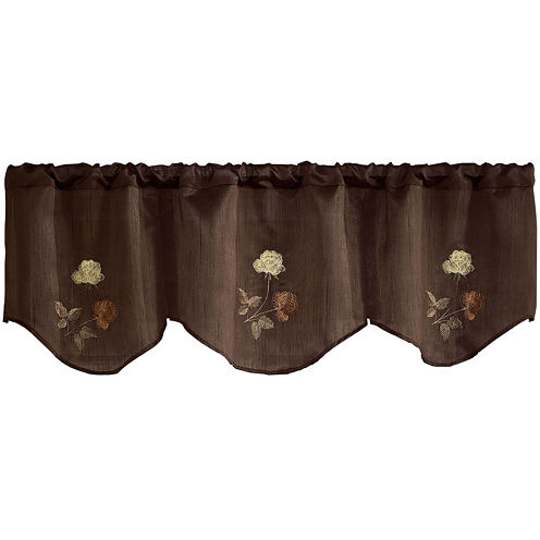 Rose Rod-Pocket Inverted Pleated Valance