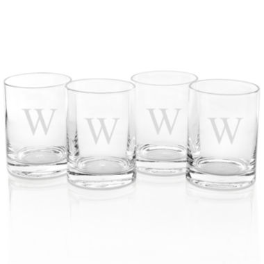jcpenney.com | Cathy's Concepts Engravable Etched Monogram Set of 4 Drinking Glasses