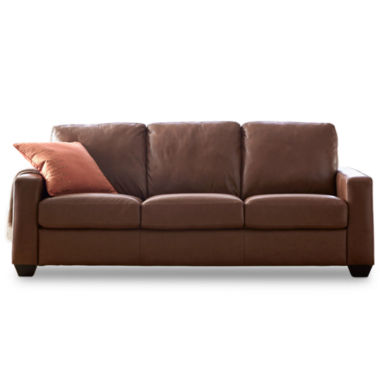 jcpenney.com | Leather Possibilities Track-Arm Sofa