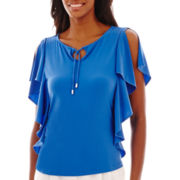 Liz Claiborne® Sleeveless Tie-Neck Top