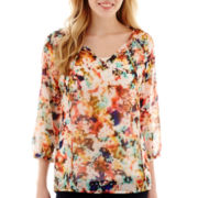 a.n.a® 3/4-Sleeve Peasant Blouse