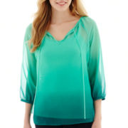 a.n.a® 3/4-Sleeve Scoopneck Peasant Blouse