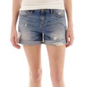 a.n.a® Roll-Cuff Boyfriend Shorts