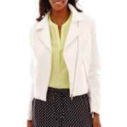 Liz Claiborne® Canvas Moto Jacket