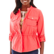 Liz Claiborne® Cropped Anorak Jacket - Tall