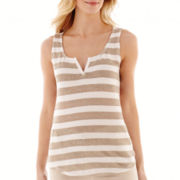 Liz Claiborne® Striped Linen Tank Top