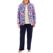 Alfred Dunner® Bon Voyage Quilted Jacket, Sweater Shell or Pull-On Pants - Plus